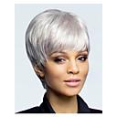 hesapli Makyaj ve Tırnak Bakımı-Sentetik Peruklar Düz Sentetik Saç Beyaz Peruk Kadın's Bonesiz Beyaz