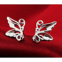 cheap Earrings-Women's Stud Earrings - Sterling Silver Silver Butterfly Animal Ladies Fashion Cute Jewelry Silver For Wedding Party Daily