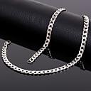 hesapli Takı Uçları-Erkek / Kadın's Zincir Kolyeler - Titanyum Çelik Gümüş Kolyeler Mücevher Uyumluluk Düğün, Parti, Günlük