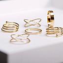 baratos Anéis-Mulheres Empilhável Conjunto de Jóias / Conjuntos de anéis - Liga Ajustável Dourado Para Festa / Diário / Casual