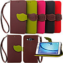 cheap Screen Protectors for Nokia-Case For Samsung Galaxy Samsung Galaxy Case Wallet / Card Holder / with Stand Full Body Cases Solid Colored PU Leather for Young 2 / On 7 / On 5