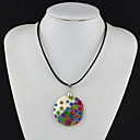 Buy Women's Pendant Necklaces Vintage Circle Geometric Leather Cowry Shell Jewelry Party Daily Casual Sports