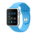 hesapli Dekorasyonlar-Watch Band için Apple Watch Series 3 / 2 / 1 Apple Spor Bantları Silikon Bilek Askısı