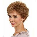 preiswerte Make-up & Nagelpflege-Synthetische Perücken Damen Wellen Mit Pony Synthetische Haare Perücke Kurz Kappenlos Braun