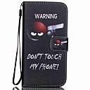 hesapli iPhone Kılıfları-Pouzdro Uyumluluk Samsung Galaxy Kart Tutucu Cüzdan Satandlı Flip Temalı Tam Kaplama Kılıf Kelime / Cümle Sert PU Deri için S5 Mini S5 S4