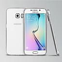 hesapli Nokia İçin Ekran Koruyucuları-Pouzdro Uyumluluk Samsung Galaxy Samsung Galaxy Kılıf Şeffaf Arka Kapak Solid TPU için S6 edge