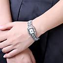 preiswerte Damenuhren-Damen Armbanduhr Quartz Schlussverkauf Edelstahl Band Analog-Digital Charme Modisch Schwarz / Weiß - Weiß Schwarz
