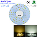 hesapli LEDler-YouOKLight 1800 lm Tavan Işıkları 100 led SMD 2835 Dekorotif Sıcak Beyaz Serin Beyaz AC 110-130V AC 220-240V