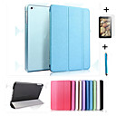 cheap iPad  Cases / Covers-Case For Apple with Stand / Auto Sleep / Wake / Origami Full Body Cases Solid Colored Hard PU Leather for iPad Air / iPad 4/3/2 / iPad Mini 3/2/1 / iPad (2017)
