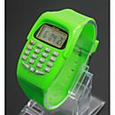 baratos Pulseiras-Crianças Relógio de Moda / Relogio digital Japanês LCD Plastic Banda Amuleto Preta / Azul / Vermelho / Um ano