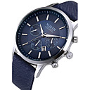 cheap Rings-Men's Wrist Watch Quartz Calendar / date / day Cool Leather Band Analog Fashion Black / White / Blue - Black Coffee Blue Two Years Battery Life / Stainless Steel