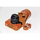 Недорогие Кейсы, сумки и ремни-dengpin® пу кожаный чехол для камеры сумка крышка с плечевым ремнем для Canon EOS m10 15-45 объектив (ассорти цветов)