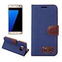 رخيصةأون حافظات / جرابات هواتف جالكسي S-غطاء من أجل Samsung Galaxy S8 Plus S8 حامل البطاقات محفظة مع حامل قلب غطاء كامل للجسم لون الصلبة قاسي منسوجات إلى S8 Plus S8 S7 edge S7