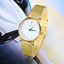 hesapli Kadın Saatleri-Kadın's Quartz Bilek Saati Büyük indirim Alaşım Bant İhtişam Moda Gümüş Altın Rengi