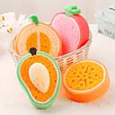 preiswerte Reinigungsartikel-Obst förmigen Reinigungsschwamm (gelegentliche Farbe)