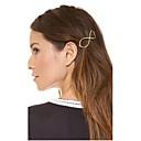 hesapli Saç Takıları-Kadın's Zarif alaşım Saç Klipsi / Saç İğneleri / Saç İğneleri
