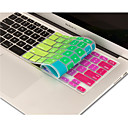 ieftine Ecrane Protecție Tabletă-curcubeu luminos piele de design silicon capac tastatură pentru aer macbook 13,3, pro macbook cu retina 13 15 17 ne aspect