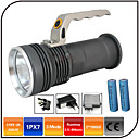 cheap Bike Lights-LED Flashlights / Torch LED - Emitters 1000 lm 3 Mode with Batteries and Charger Waterproof Zoomable Impact Resistant Camping / Hiking / Caving Everyday Use Hunting