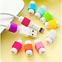 رخيصةأون منظم الأسلاك-اي فون كابل حامي، منظم كابل للكابلات الهاتف الذكي (1 قطعة لون عشوائي)