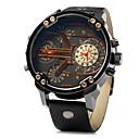 ieftine Proiectoare LED-JUBAOLI Bărbați Ceas de Mână Quartz Piele Negru / Maro Calendar Zone Duale de Timp  Analog Negru Galben Maro