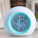 cheap Smart Lights-Digital LED Glowing Change Clock Alarm Thermometer with Nature Sound