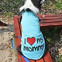 hesapli Fırın Araçları ve Gereçleri-Kedi / Köpek Tişört Köpek Giyimi Harf & Sayı Gri / Mavi / Pembe Pamuk Kostüm Evcil hayvanlar için Yaz Erkek / Kadın's Moda