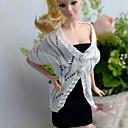 ieftine Ornamente de Petrecere-Casul / Zilnic Rochii / Cardigans & Pulover 2 pcs Pentru Barbie Doll De Lână Vârf / Rochie Pentru Fata lui păpușă de jucărie
