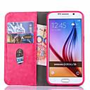 저렴한 갤럭시 S 시리즈 케이스 / 커버-케이스 제품 Samsung Galaxy Samsung Galaxy S7 Edge 카드 홀더 지갑 스탠드 플립 전체 바디 케이스 한 색상 PU 가죽 용 S7 edge S7