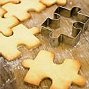hesapli Bar Gereçleri ve Açıcılar-Bakeware araçları Paslanmaz Çelik Kurabiye karikatür Şekilli kek Kesici 1pc