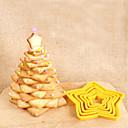 hesapli Saklama Kapları-Bakeware araçları Plastik 3D / Yaratıcı Mutfak Gadget / Kendin-Yap Kek / Kurabiye / Çikolota Gwiazda Kurabiye Kesicileri 6pcs