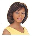 preiswerte Make-up & Nagelpflege-Synthetische Perücken Glatt Synthetische Haare 10 Zoll Braun Perücke Damen Mittlerer Länge Kappenlos Braun
