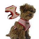 preiswerte Hundehalsbänder, Geschirre & Leinen-Hund Geschirre Regolabile / Einziehbar Streifen Stoff Rot Blau