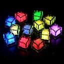 hesapli Yenilikçi LED Işıklar-24 adet mavi / kırmızı / yeşil / pembe / sarı / rgb / beyaz buz küpleri led ışık parti düğün noel bar restoran