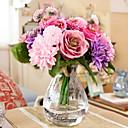ieftine Bijuterii de Păr-Flori artificiale 10 ramură Stil European Trandafiri Margarete Față de masă flori