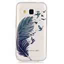 olcso Galaxy J tokok-Case Kompatibilitás Samsung Galaxy Samsung Galaxy tok Átlátszó Fekete tok Tollak TPU mert Grand Prime Core Prime