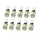 저렴한 다양한 LED 조명-SENCART 10pcs 1.5 W 90-120 lm G4 LED 스팟 조명 T 5 LED 비즈 SMD 5050 장식 따뜻한 화이트 / 차가운 화이트 / 내추럴 화이트 12 V / 10개 / RoHS 규제