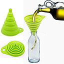 cheap Barware & Openers-Food Grade Eelescopic The Silicone Folding Funnel Random Color