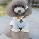 저렴한 강아지 의류 & 악세사리-강아지 드레스 강아지 의류 리본매듭 블루 핑크 테릴렌 코스츔 애완 동물 여성용 패션 웨딩
