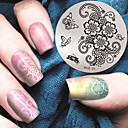 cheap Makeup & Nail Care-1 pcs Stamping Plate Template Nail Art Design Fashionable Design Stylish / Fashion Daily / Metal