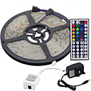 cheap LED String Lights-5m Flexible LED Light Strips / Light Sets / RGB Strip Lights LEDs 3528 SMD RGB Remote Control / RC / Cuttable / Dimmable 100-240 V / Linkable / Self-adhesive / Color-Changing / IP44