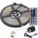 hesapli LED Şerit Işıklar-5m Esnek LED Şerit Işıklar / Işık Setleri / RGB Şerit Işıklar LED'ler 3528 SMD RGB Uzaktan Kontrol / Kesilebilir / Kısılabilir 100-240 V / Bağlanabilir / Kendinden Yapışkanlı / Renk Değiştiren / IP44