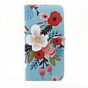 tanie Etui, torby i pokrowce do MacBooka-Kılıf Na Apple Etui iPhone 5 iPhone 6 iPhone 6 Plus Etui na karty Portfel Z podpórką Pełne etui Kwiaty Twarde Skóra PU na iPhone 6s Plus
