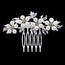 baratos Pulseiras-Mulheres Elegante & Luxuoso Cristal / Imitação de Pérola / Imitações de Diamante Pente / Pentes de Cabelo / Pentes de Cabelo