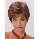 hesapli Makyaj ve Tırnak Bakımı-Sentetik Peruklar Dalgalı Bantlı Sentetik Saç Peruk Kadın's Şort Bonesiz