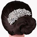 hesapli Saç Takıları-Kadın's Parti Zarif Düğün Kristal Gümüş Kaplama Saç Tarağı
