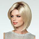 preiswerte Make-up & Nagelpflege-Synthetische Perücken Damen Glatt Blond Bob Bubikopf Synthetische Haare Blond Perücke Kappenlos Blondine