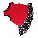 preiswerte Badezimmer Gadgets-Hund Kleider Hundekleidung Punkt Herz Schwarz / Rot Baumwolle Kostüm Für Haustiere Sommer Damen Modisch
