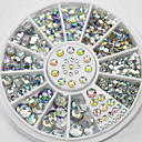 cheap Makeup & Nail Care-4 size 300pcs nail art tips crystal glitter rhinestone decoration wheel