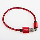 hesapli USB Flaş Sürücüler-USB 2.0 Örgülü Kablo Samsung için 25cm Aluminyum
