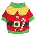ieftine Pet Costume de Crăciun-Pisici Câine Costume Tricou Îmbrăcăminte Câini Desene Animate Rosu Verde Bumbac Costume Pentru Primăvara & toamnă Iarnă Bărbați Pentru femei Cosplay Crăciun